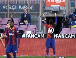 Hasil La Liga : Barcelona 4-0 Osasuna, Messi Cetak Gol untuk Maradona